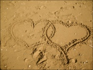 Love is in the air (sand)